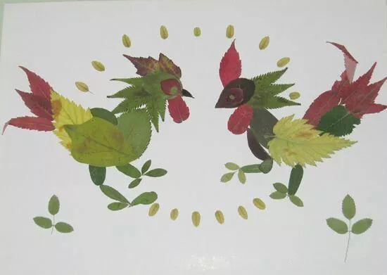 树叶粘贴画手工创意diy制作大全(太美了)