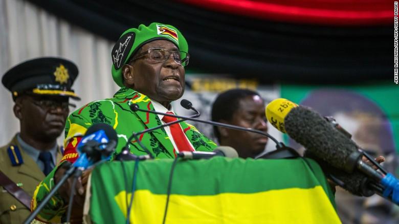 (津巴布韦总统穆加贝)