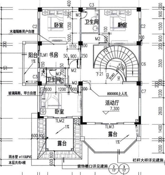 农村60平方复式楼设计图问:跪求设计图……打算盖二层半,一层主要