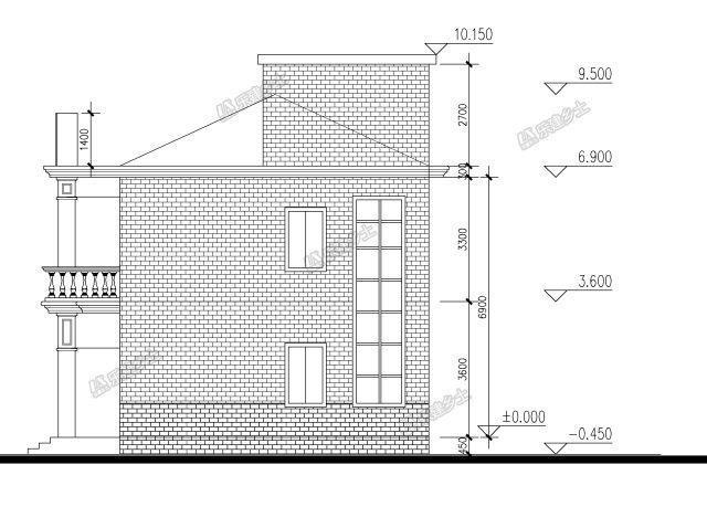 13x8米农村建房图纸