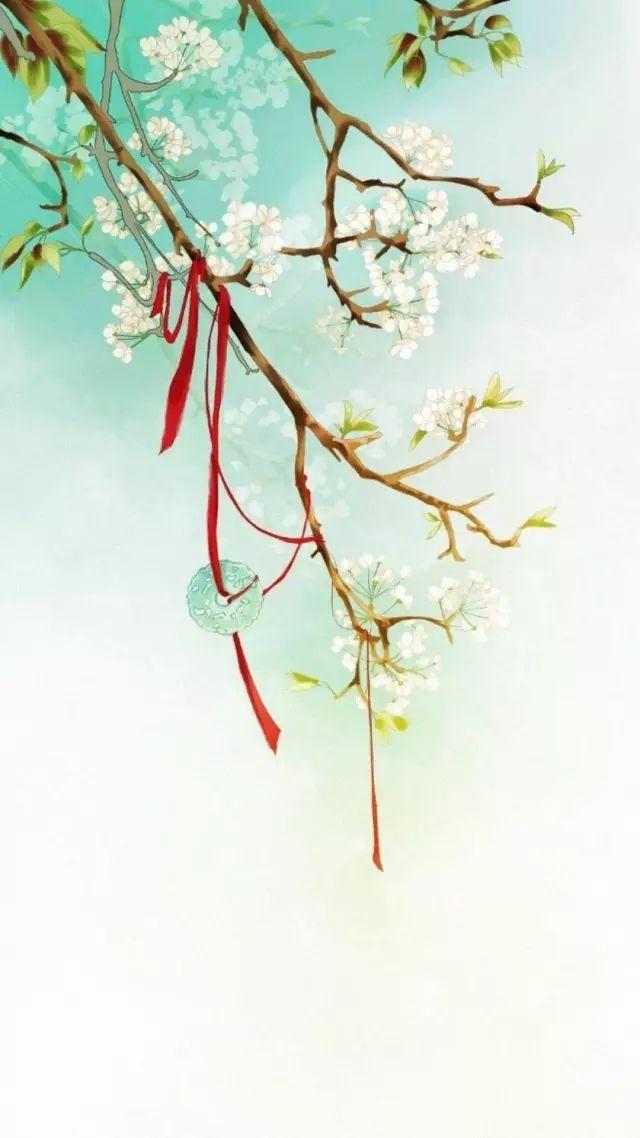 【古风】唯美手绘插画手机壁纸