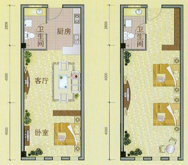 新跃商务公寓效果图 小户型房屋看似蜗居 但只要设计得当 单身公寓也