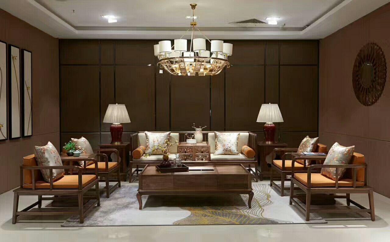 新中式沙发 ▏暗香疏影,诗意东方图片