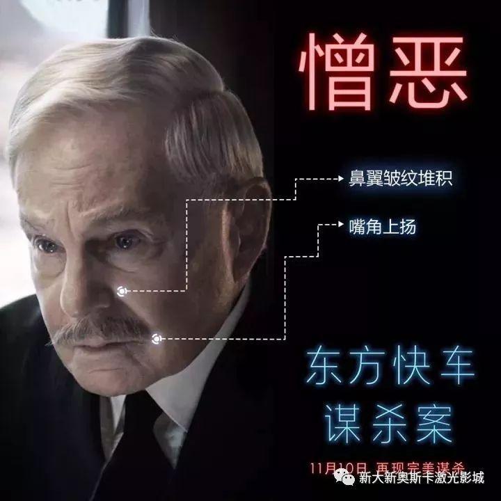 【影视资讯】东方快车谋杀案 ——表情秘密 /零点预售
