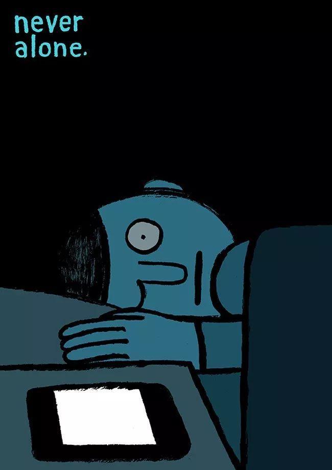 社会 正文  法国插画家jean jullien的作品,线条简单,色彩单纯,常常图片