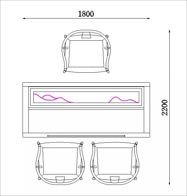 圈椅造型:茶椅延续传统圈椅的设计,后背与扶手一顺而下,就坐时肘部图片