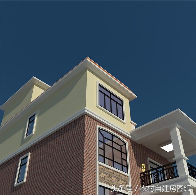 9x15米两层半农村别墅,简单大气,5个房间25万