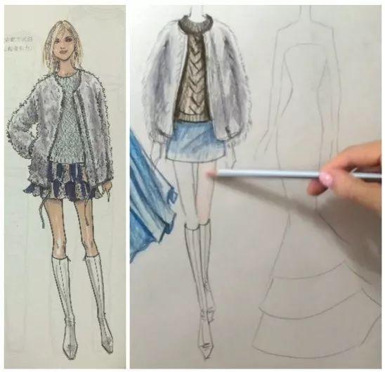 手绘服装效果图-彩铅初级课   服装效果图,是设计师最直接的表达方式.