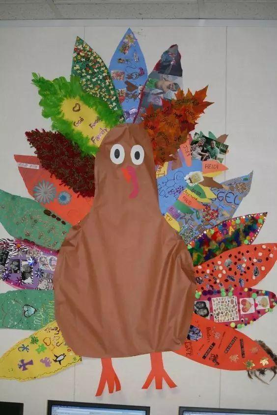 幼儿园感恩节手工主题墙布置,老师快收藏喽!图片
