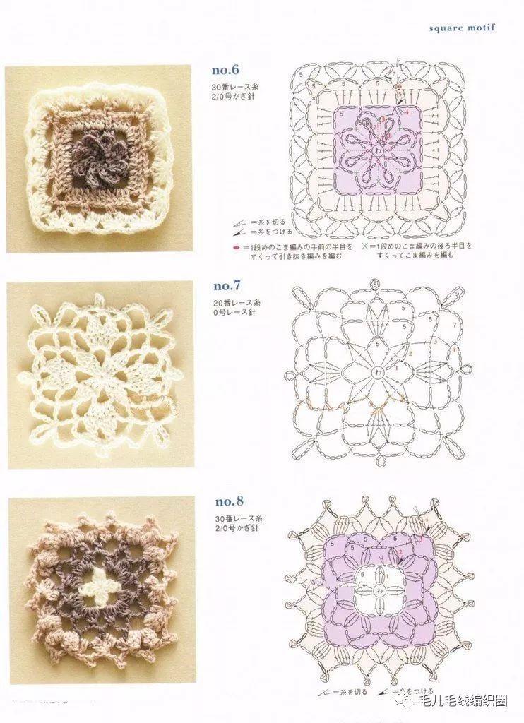 【图解】上百种钩针单元花