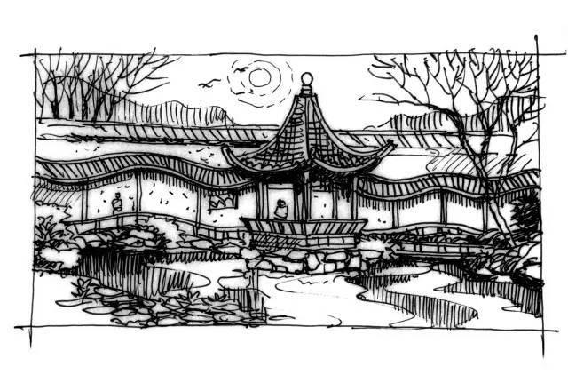 从这四个小扇子开始,读懂中国古典细节的a扇子设计园林养生图片