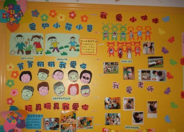 幼儿园感恩节手工主题墙布置,老师快收藏喽!