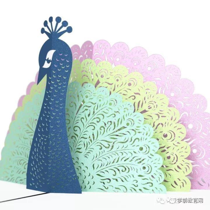 立体纸雕孔雀教程图解