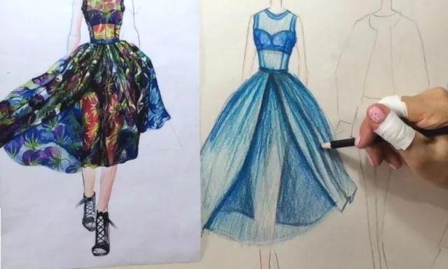 a 手绘服装效果图-彩铅初级课 服装效果图,是设计师最直接的表达方式.