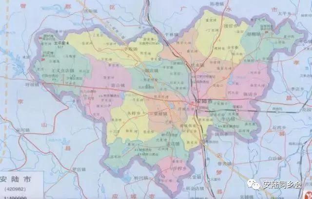 安陆手绘旅游内部地图