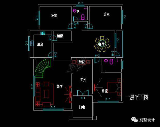 占地190㎡两层半欧式风格 复式楼 新农村自建房别墅全套施工图纸 外观图片