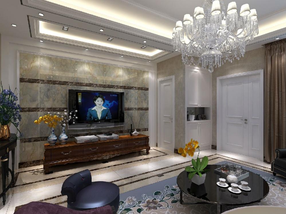 欧式客厅装修效果图欣赏2017