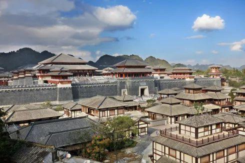 秦汉建筑手绘图