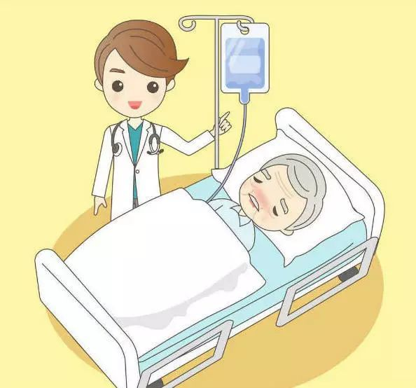 护士床边宣教卡通