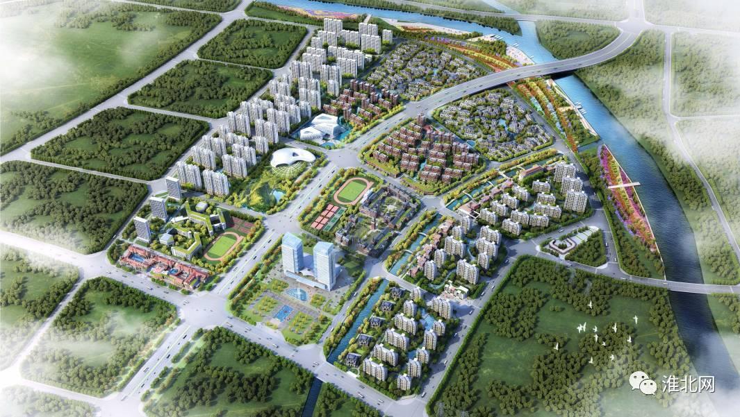 淮北中湖规划图_(淮北经济开发区行政服务核心区规划鸟瞰图)