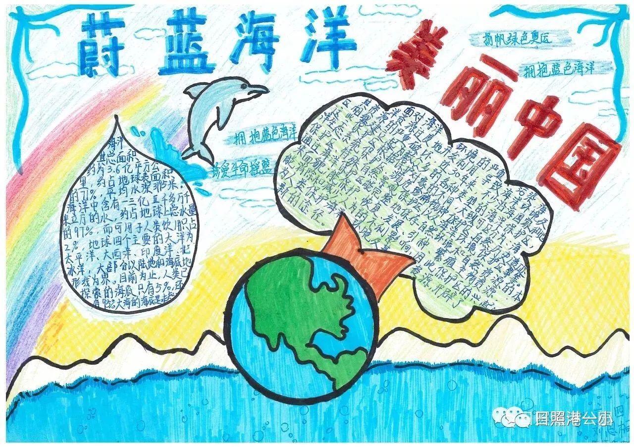 手工制作海洋标本,海洋生物画,海洋主题手抄报,主题征文 …… 看着