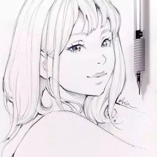 简笔画 手绘 素描 线稿 640_640