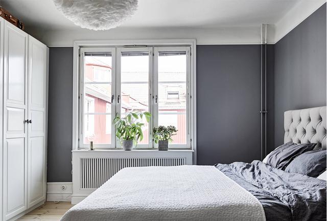 北欧风格装修案例 成都120㎡小户型效果图 卧室卫生间图片
