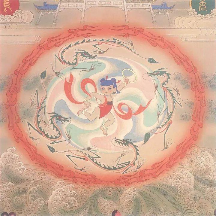 壁画《哪吒闹海》(局部之一)·1979年图片