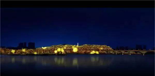 再过14天,南充白塔公园夜景首秀,效果视频简直亮炸