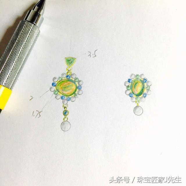 设计草稿,来自珠宝匠入驻设计师 incolor彩定制