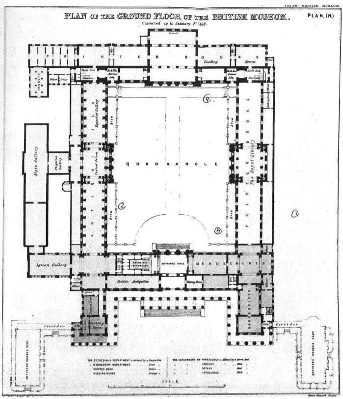 大英博物馆最初的设计平面图