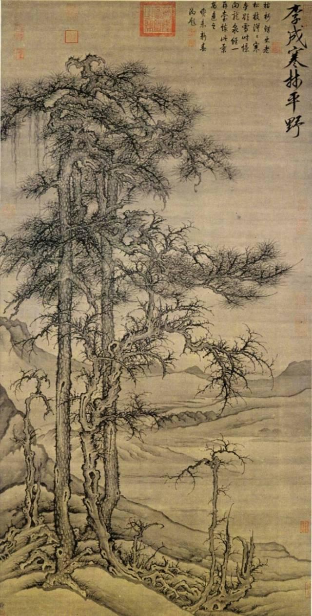 古今25位名家松针图,感受松树之美