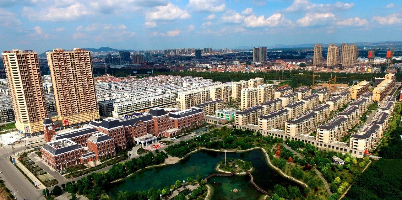 风景如画的濉溪经济开发区一角--努力打造产城融合园区
