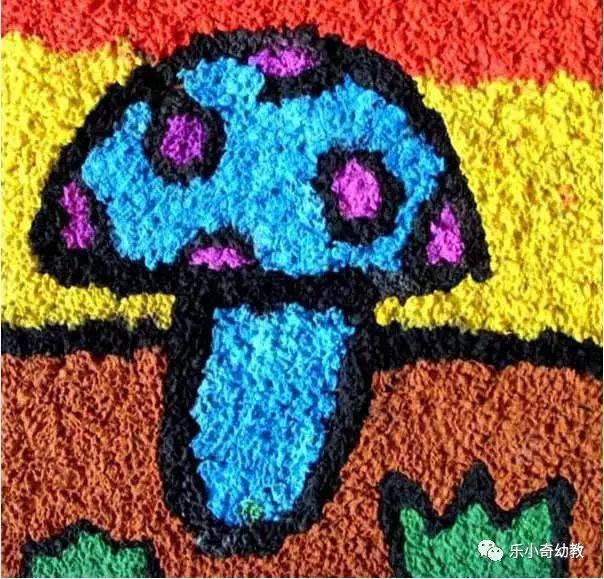 (2)幼儿制作纸浆画建议选择较简单的图案.