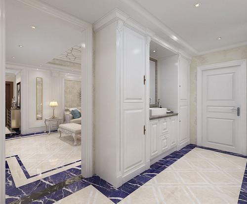 社会 正文  这天花与地面上的拼花图案很丰富很优美,让客厅的空间有种图片