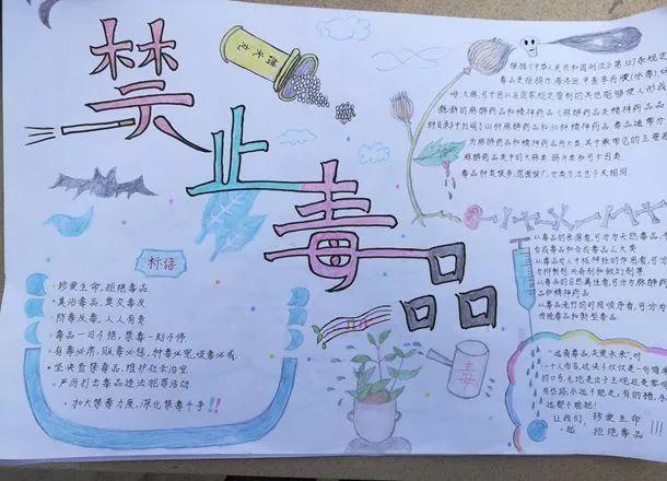 """娱乐 正文  ——民德中学开展""""无毒青春,健康生活""""手抄报评比活动 为"""