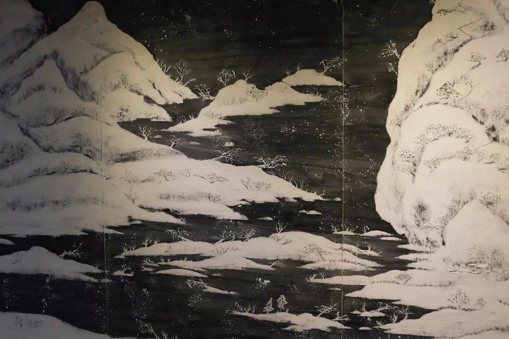 立冬|培德惊现步骤千里江山图梅花画雪景图片