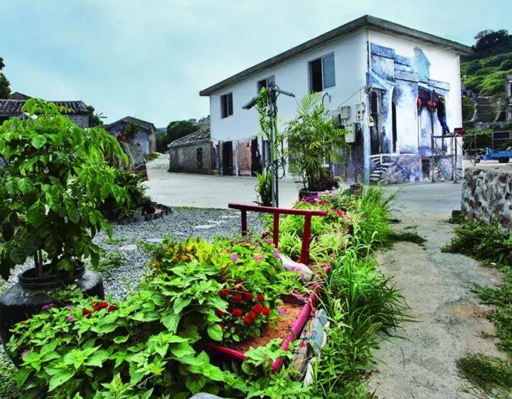 村庄景观节点手绘