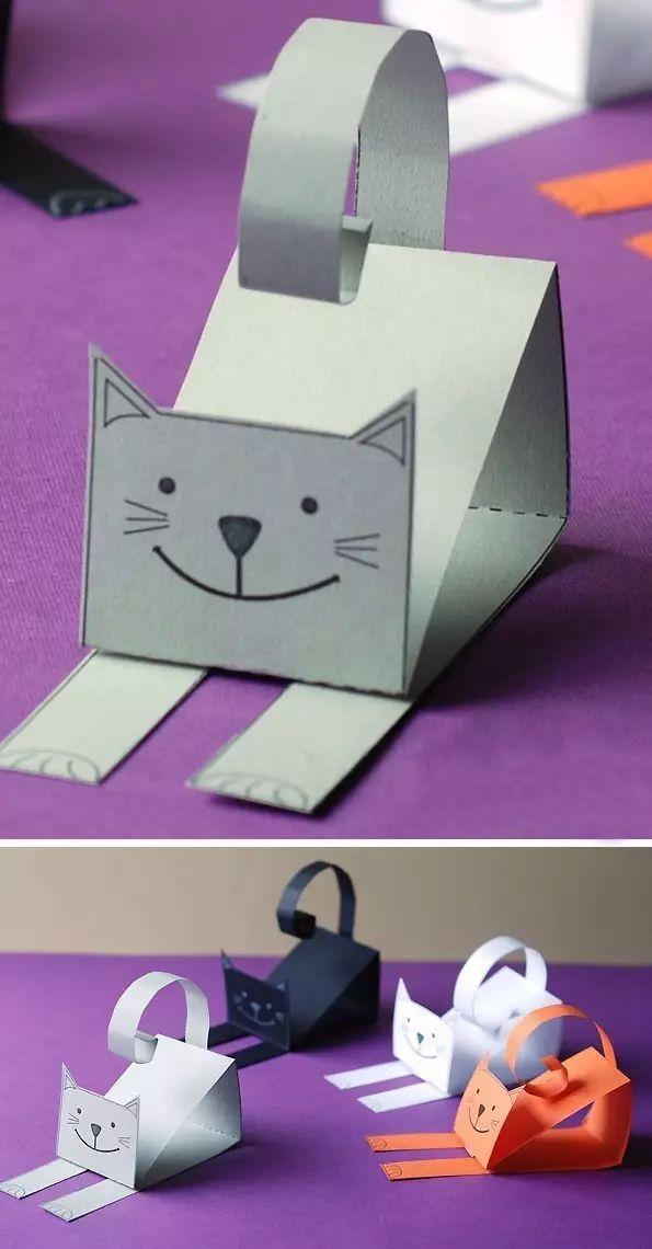 创意亲子手工制作小猫咪,美爆了!