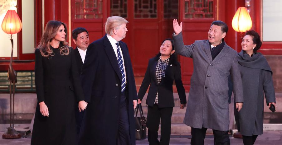 文|刘璐 作为亚洲之行的一部分,美国总统特朗普对中国的国事访问昨日