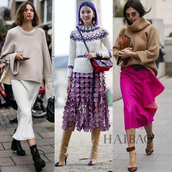 毛衣、裙子你肯定都有,但秋冬要凑一起穿才最时髦!