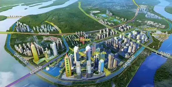 三江口城市天际线