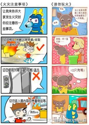 关于火警安全的手绘画