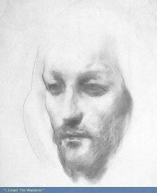 纪伯伦素描作品 但却很少有人知道, 纪伯伦自画像 25岁时,纪伯伦到