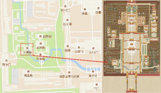 故宫总平面图手绘