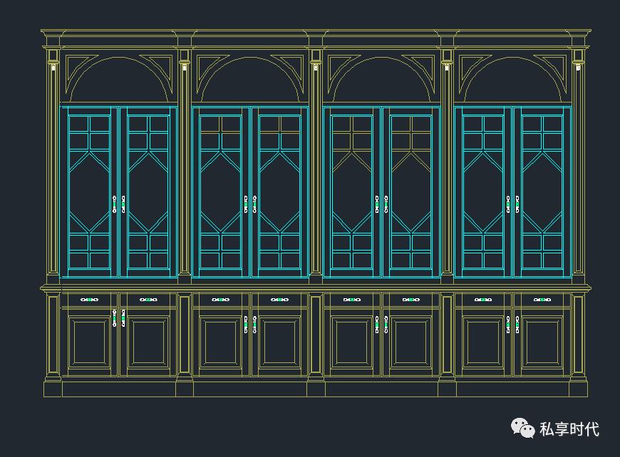 衣柜cad平面图画法