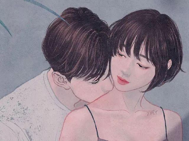 好想谈恋爱_【插画师作品】第94期:韩国插画师 zipcy 笔下情侣同居生活的 ...