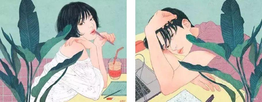 【插画师作品】第94期:韩国插画师 zipcy 笔下情侣同居生活的日常
