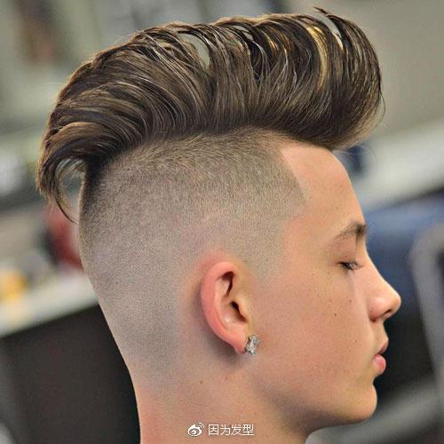 男士两边剃光发型 怎叫人不爱?图片
