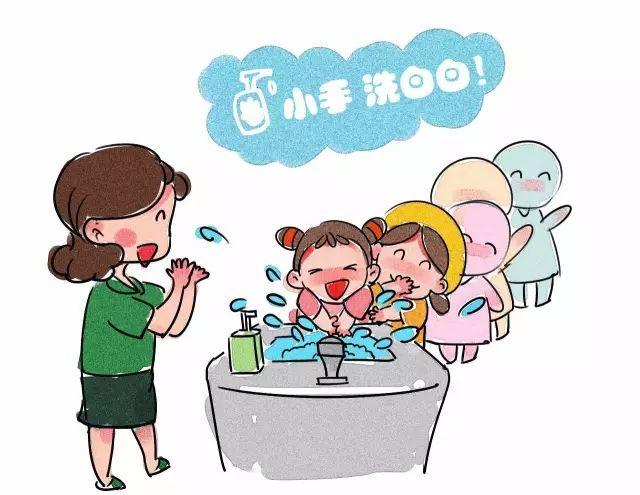 幼儿喝水卡通图片